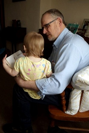 Grandma and Grandpa Hamilton visit Elaine