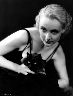 Carole Lombard and cat