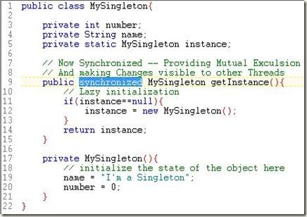 MySynchronizedSingletonJava