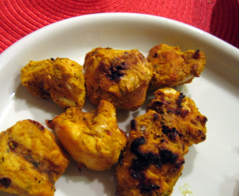 Tandoori style chicken, straight from the grill