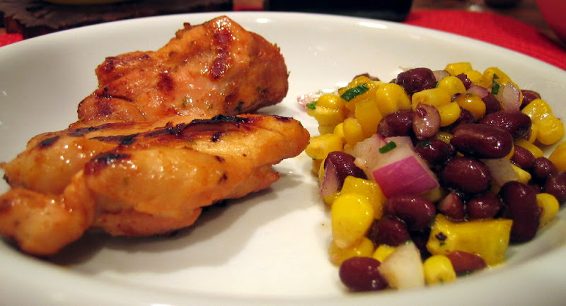 chipotle lime chicken with black bean corn salsa