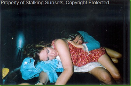 Florida - Jody and Ang sleeping in Limo