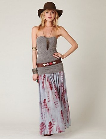 Free-people-printed-chiffon-skirt