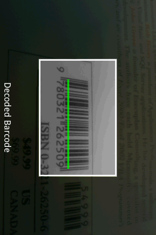 SnapTell Bar Code Scanner