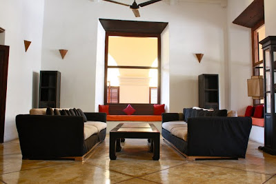 Lobby of the Fort Printers hotel in Galle Fort in Sri Lanka