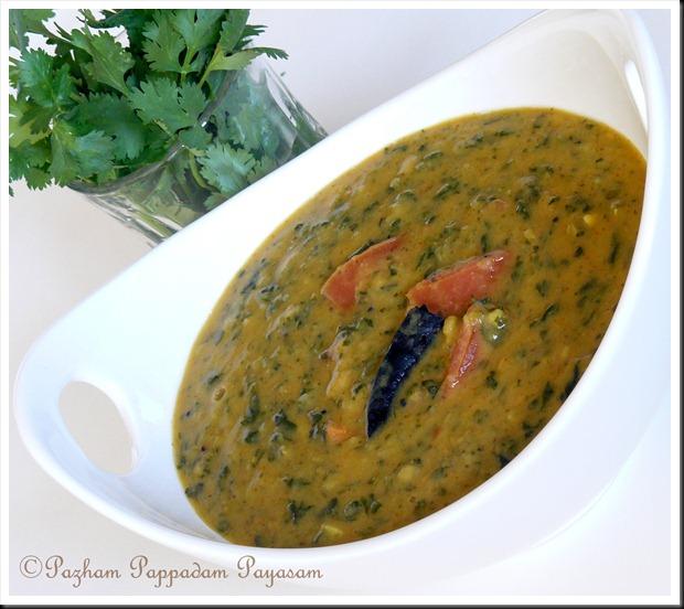 Spinach/cheera/palak sambar