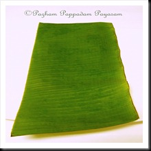 Cut banana leaf
