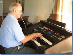Alan Dadson, a new member of the NSOKC and Secretary of the OSNZ, trying out the GA3