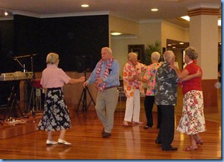 Some of the residents enjoying the Old Time Dance music of Peter Brophy and Carole Litttlejohn