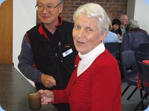 Volunteer Paul Joung and Stroke Club Leader Joan Perkins