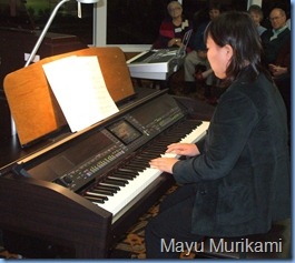 Japanese visitor, Mayu Murakami, played two challenging, straight piano pieces with great feeling and execution