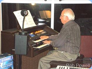 Rob Powell played the Club's Technics GA3 Organ