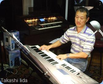 Taka Iida played his Yamaha two manual D-Deck