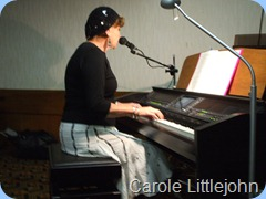 Carole Littlejohn played the Clavinova as well some pretty slick vocals to enhance her great arrangements.