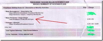 Tagihan Indosat 3G