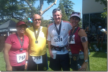 Fontana half marathon finish 3