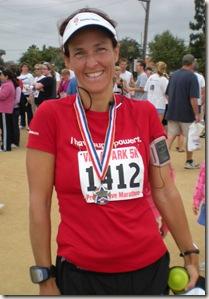 Villa park 5K post race medal2