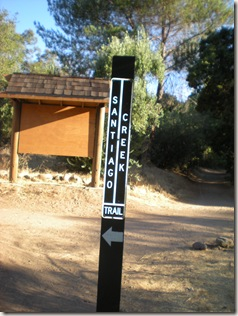 Santiago Creek sign post