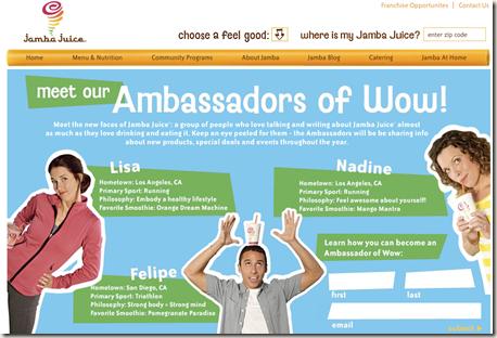Ambassadors of Wow!