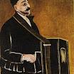 N. Pirosmani. Barrel Organist.