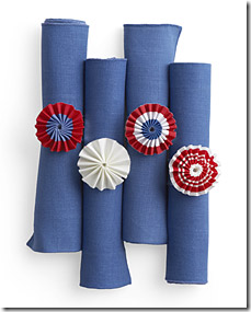 red white blue napkin rings