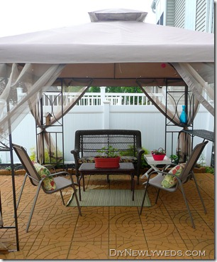 Awesome Weu0027ve Considered Getting A Gazebo Since We Installed Our Patio Two Years  Ago. I Found A Great Deal On This One At The Christmas Tree Shops And  Decided To ...