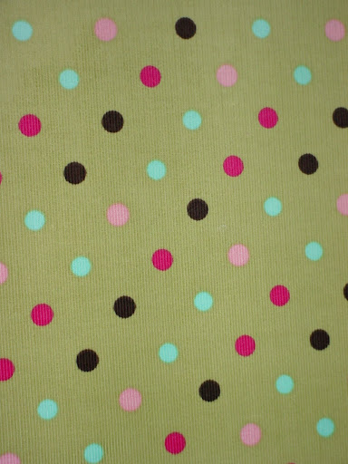 Dots on Basil Corduroy - By the Piece
