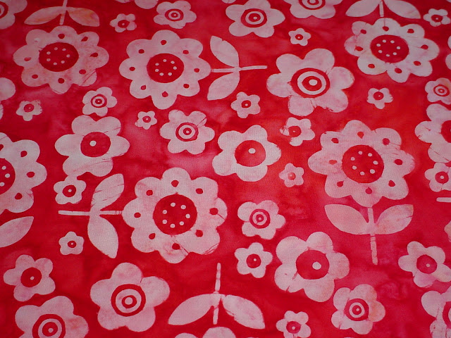 Red Flowers Batik