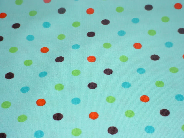 Dots on Turquoise Corduroy