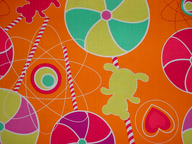 DC4411 Lollipop Dreams Orange - LESS THAN A YARD
