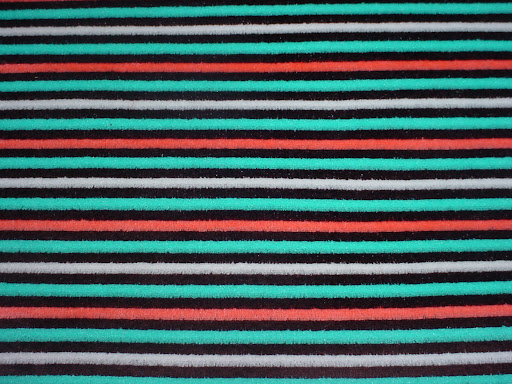 Turquoise Stripes Velour