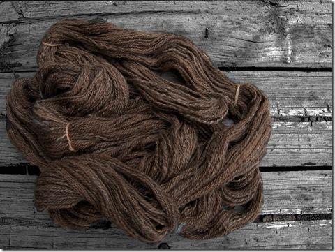 Alpaca fibre - spun by Jill - 4