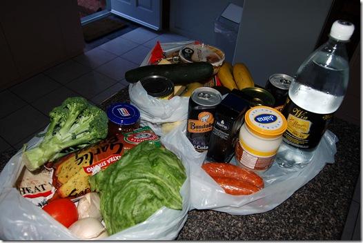 Grampians - $95 worth groceries
