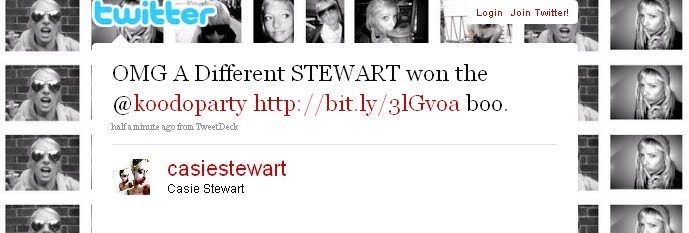 a stewart won the koodo party, but not me