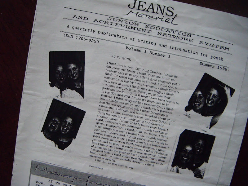 Jeans Publishing: Did you know I wrote a book when I was a teenager?