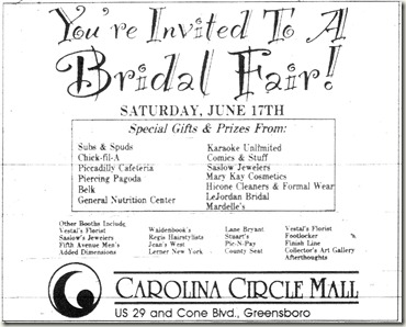 Bridal Fair June 1995