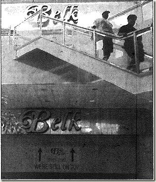Belk Entrance 1996