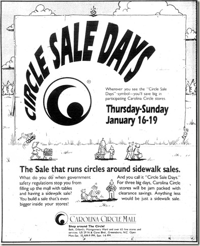 Circle Sale Days January 1992