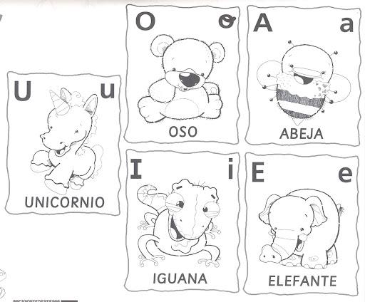 COLOREAR VOCALES – A E I O U