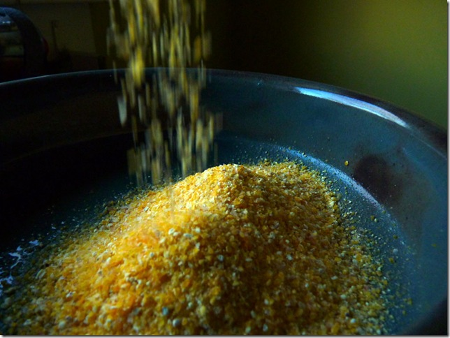 Pouring Polenta