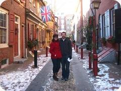 Me & Brock at Elfreth's Alley