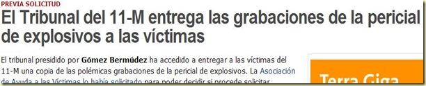 ...el Tribunal del 11-M ha acordado la entrega de las grabaciones de la pericial de explosivos...