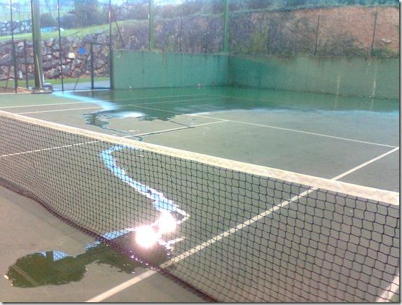 Estado de las pistas cubiertas de tenis el 18-1-2011