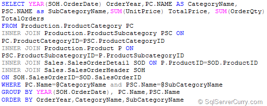 Cascade Parameters Query SSRS