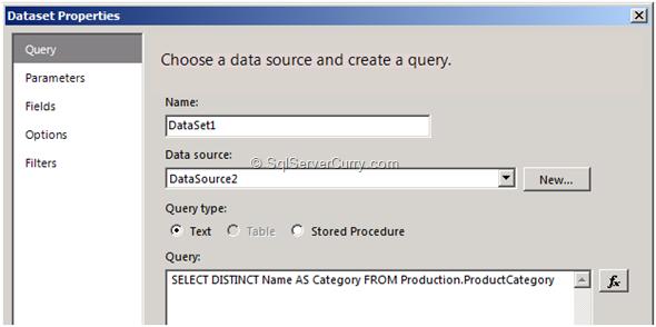 SSRS Dataset Properties