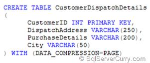 SQL Server 2008 Compression