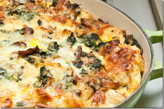 bacon spinach strata-1