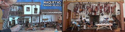 MAQUETAS DE TRINIDAD VELASCO. reproducen las formas tradicionales de vida y trabajo de la regi�n de La Mancha, desde las labores propias del campo hasta la elaboraci�n de distintos productos tal como se hac�a en el pasado, as� como profesiones hoy pr�cticamente desaparecidas