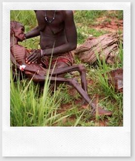 miséria pessoa quase morta de fome