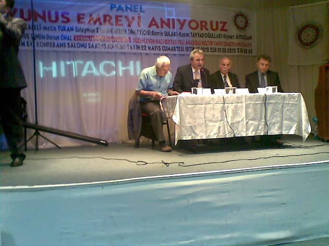 Hac� Bekta� Veli Anadolu K�lt�r Vakf� �stanbul Merkez ( Okmeydan� Cemevi ) taraf�ndan d�zenlenen Yunus Emre�yi An�yoruz Paneli Yap�ld�!